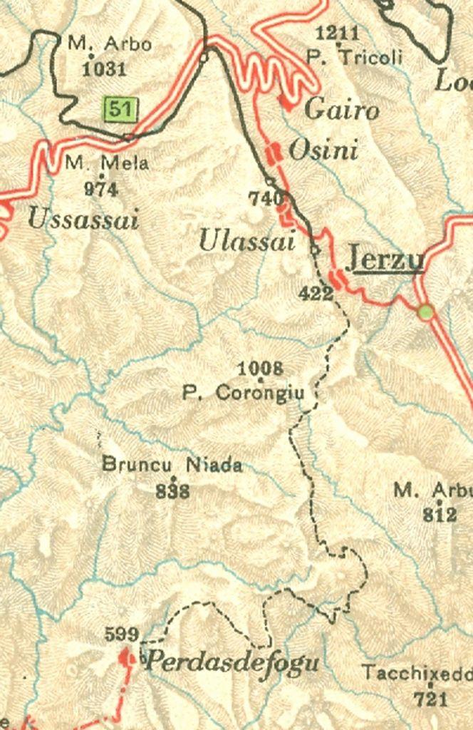 Cartina Sardegna Jerzu.Lestradeferrate It La Ferrovia Gairo Jerzu